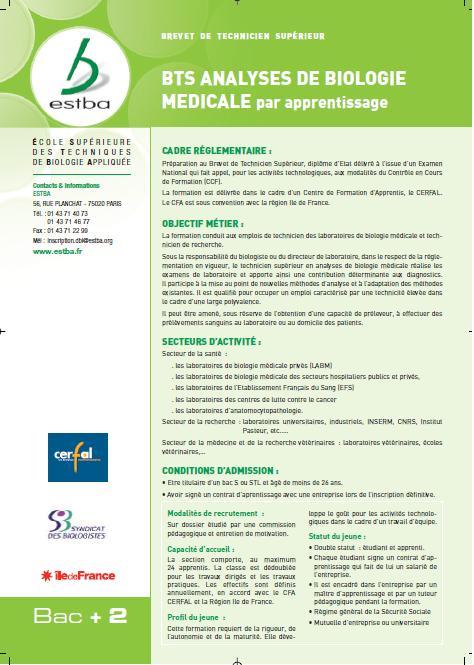 Offre d emploi technicien d'analyses biomedicales