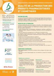 Qualité de la Production des Produits Pharmaceutiques Cosmétiques