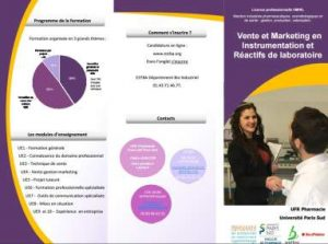 Vente, marketing en instrumentation et réactifs de laboratoire